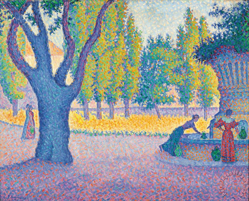 Saint-tropez Fontaine Des Lices painting - Paul Signac Saint-tropez Fontaine Des Lices Art Print