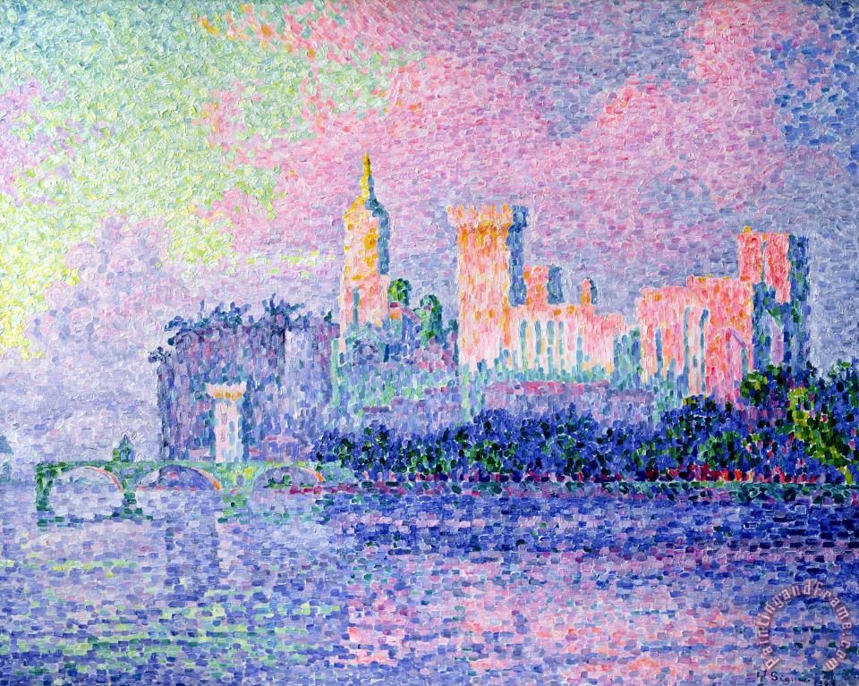The Chateau des Papes painting - Paul Signac The Chateau des Papes Art Print