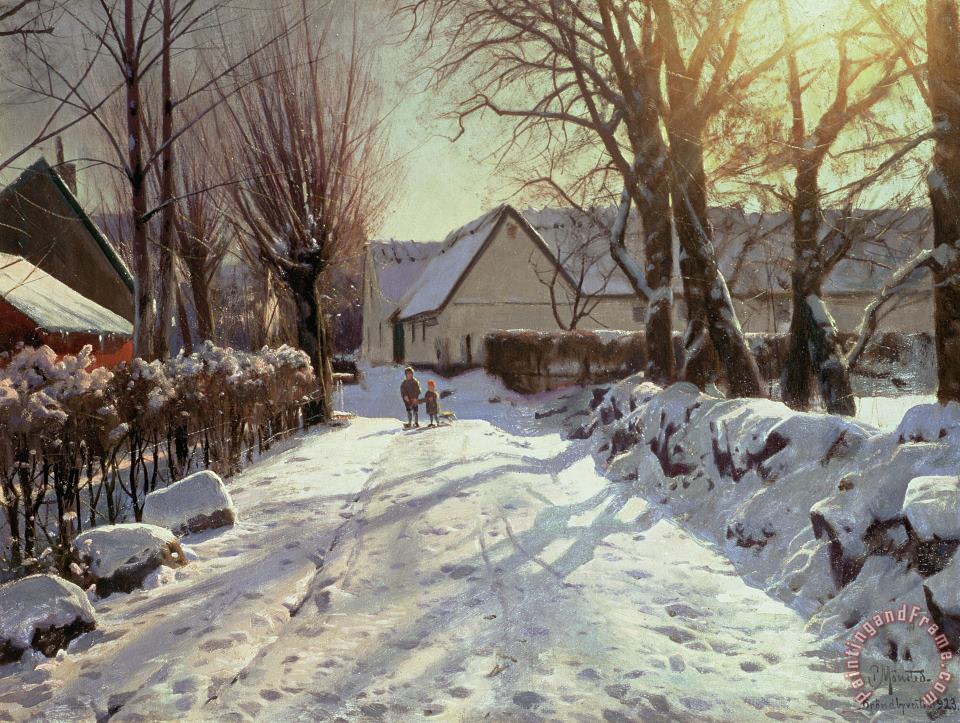 Peder Monsted The Road Home Art Print