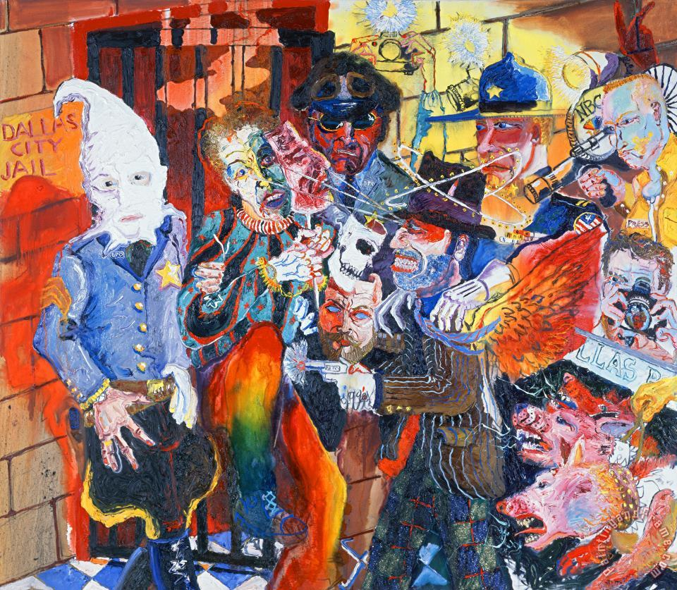 Peter Dean Dallas Chaos Ii Painting Dallas Chaos Ii Print For Sale