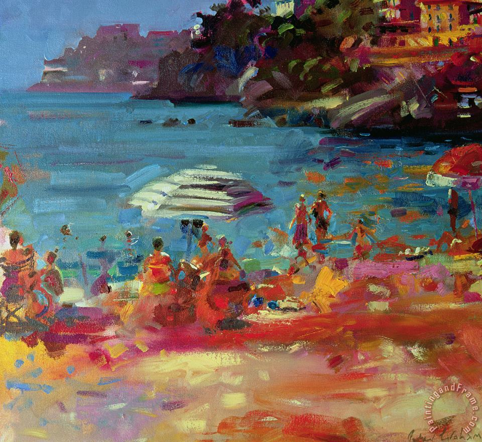 Peter Graham Monaco Coast Art Print