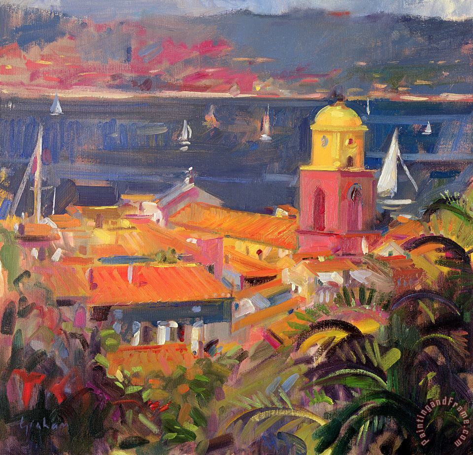 St Tropez Sailing painting - Peter Graham St Tropez Sailing Art Print