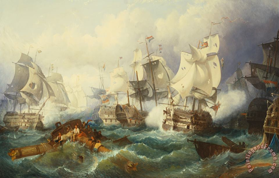Philip James de Loutherbourg The Battle Of Trafalgar Art Painting