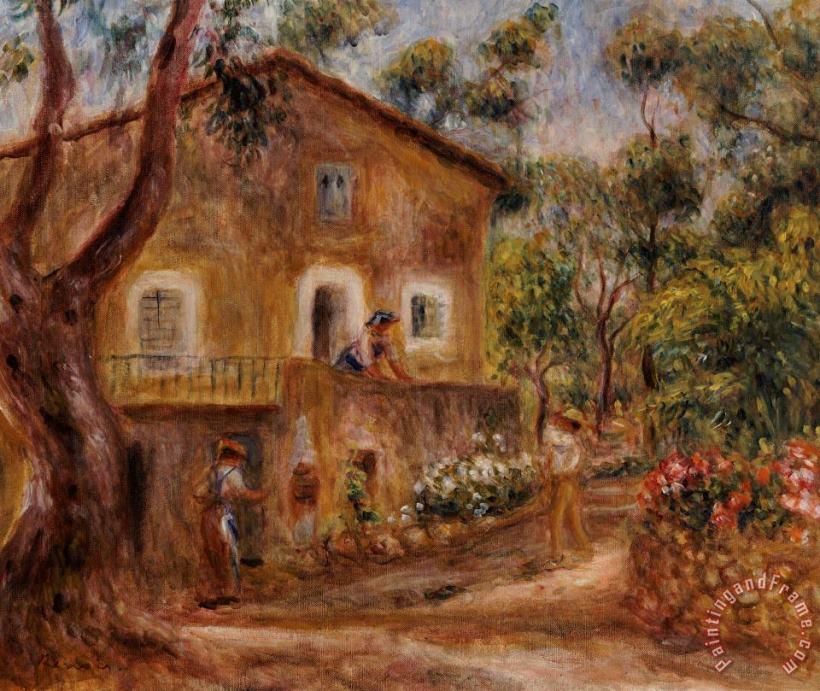 pierre auguste renoir collette s house at cagne painting collette s house at cagne print for sale