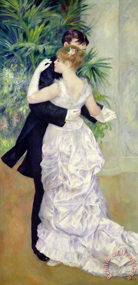 Dance in the City painting - Pierre Auguste Renoir Dance in the City Art Print