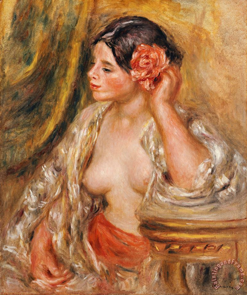 Gabrielle a sa Coiffure painting - Pierre Auguste Renoir Gabrielle a sa Coiffure Art Print