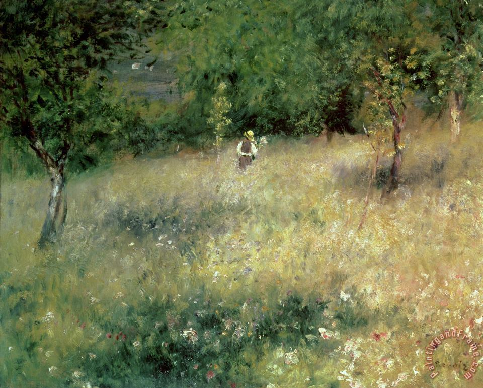 Spring at Chatou painting - Pierre Auguste Renoir Spring at Chatou Art Print