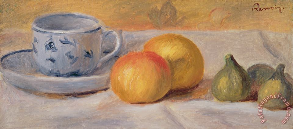 Still Life with Blue Cup Nature Morte a la Tasse Bleue painting - Pierre Auguste Renoir  Still Life with Blue Cup Nature Morte a la Tasse Bleue Art Print