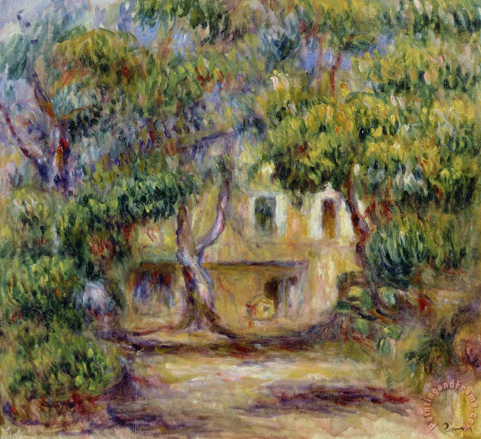 The Farm at Les Collettes painting - Pierre Auguste Renoir The Farm at Les Collettes Art Print