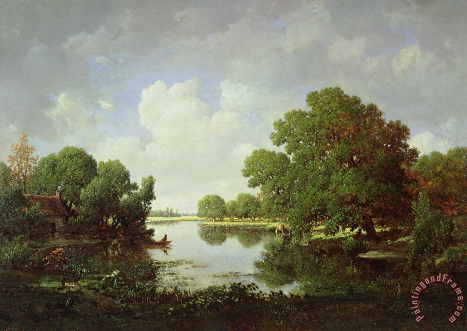 Early Summer Afternoon painting - Pierre Etienne Theodore Rousseau Early Summer Afternoon Art Print