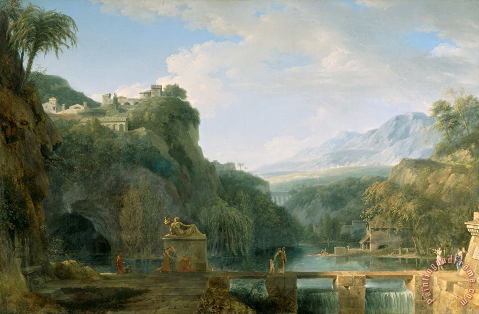 Landscape of Ancient Greece painting - Pierre Henri de Valenciennes Landscape of Ancient Greece Art Print
