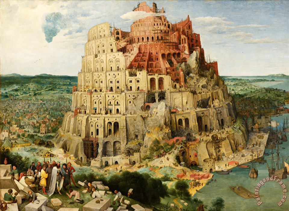 The Tower of Babel (vienna) painting - Pieter Bruegel the Elder The Tower of Babel (vienna) Art Print
