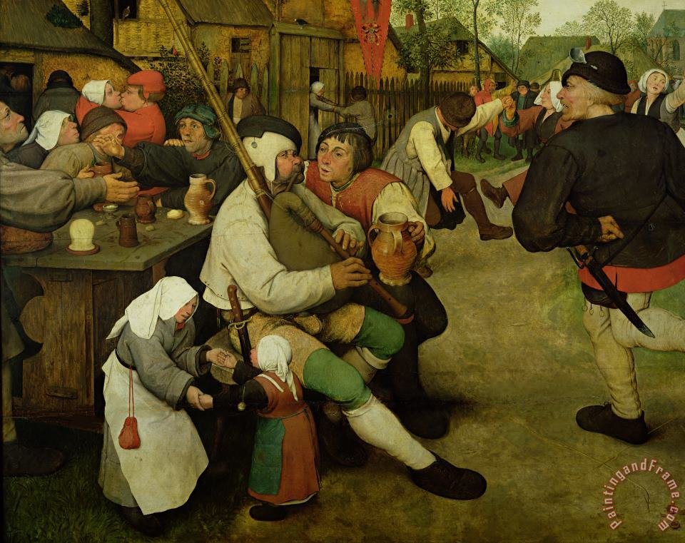 Peasant Dance painting - Pieter the Elder Bruegel Peasant Dance Art Print