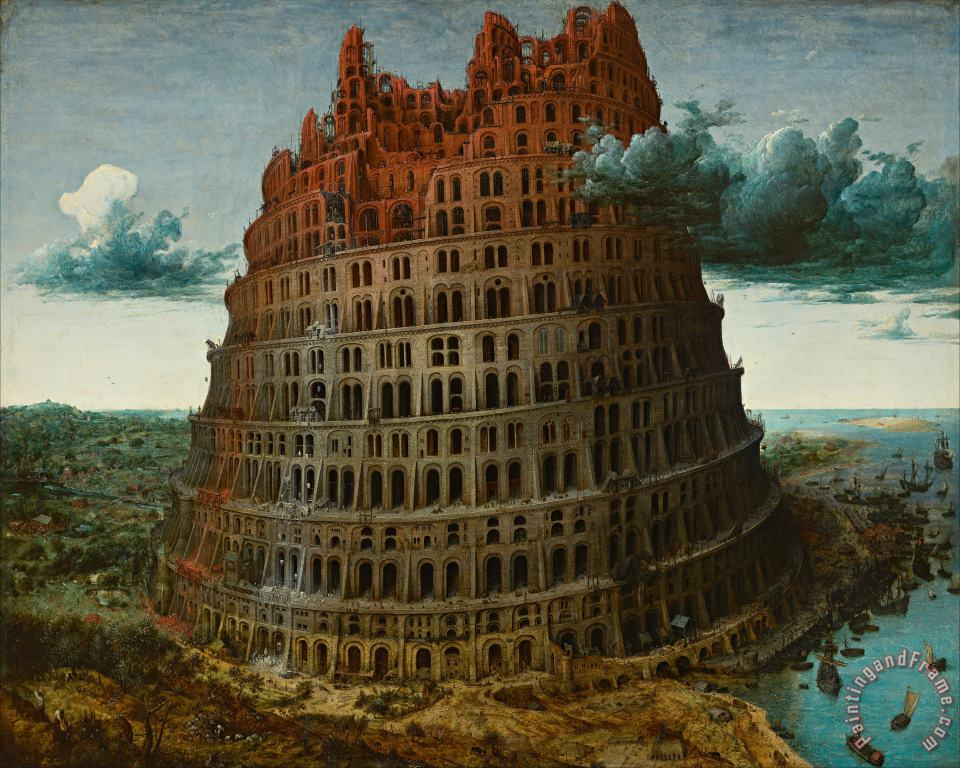 The Little Tower of Babel painting - Pieter the Elder Bruegel The Little Tower of Babel Art Print