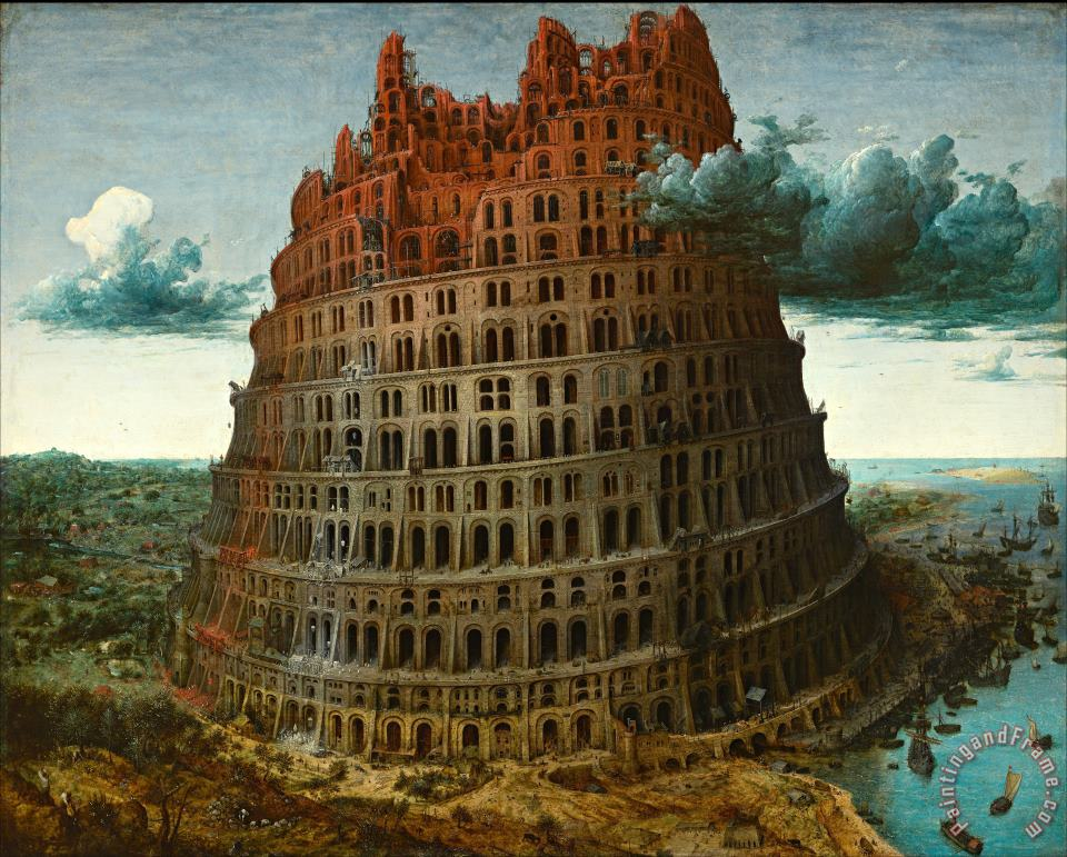 The Tower of Babel Rotterdam painting - Pieter the Elder Bruegel The Tower of Babel Rotterdam Art Print