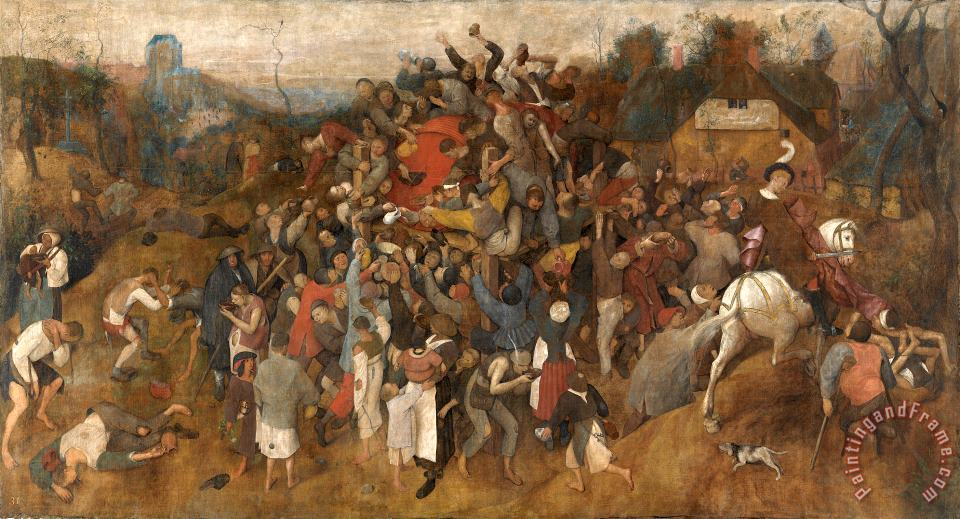 The Wine Of Saint Martins Day painting - Pieter the Elder Bruegel The Wine Of Saint Martins Day Art Print