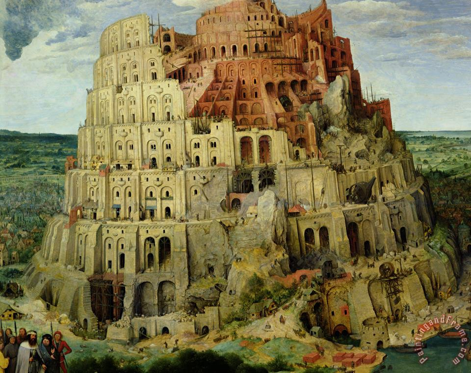 Pieter the Elder Bruegel Tower of Babel Art Print