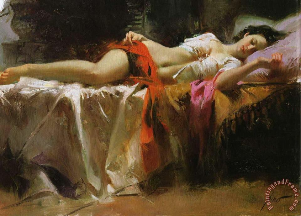 Restless Beauty painting - Pino Daeni Restless Beauty Art Print