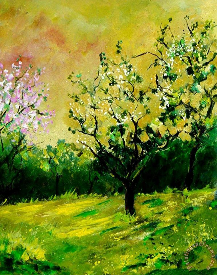 Orchard painting - Pol Ledent Orchard Art Print
