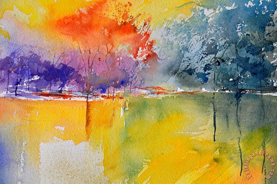 Watercolor 2125632 painting - Pol Ledent Watercolor 2125632 Art Print