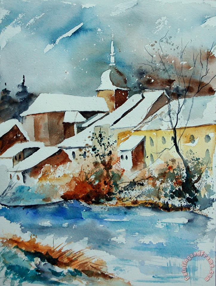 Pol Ledent Watercolor Chassepierre Art Painting