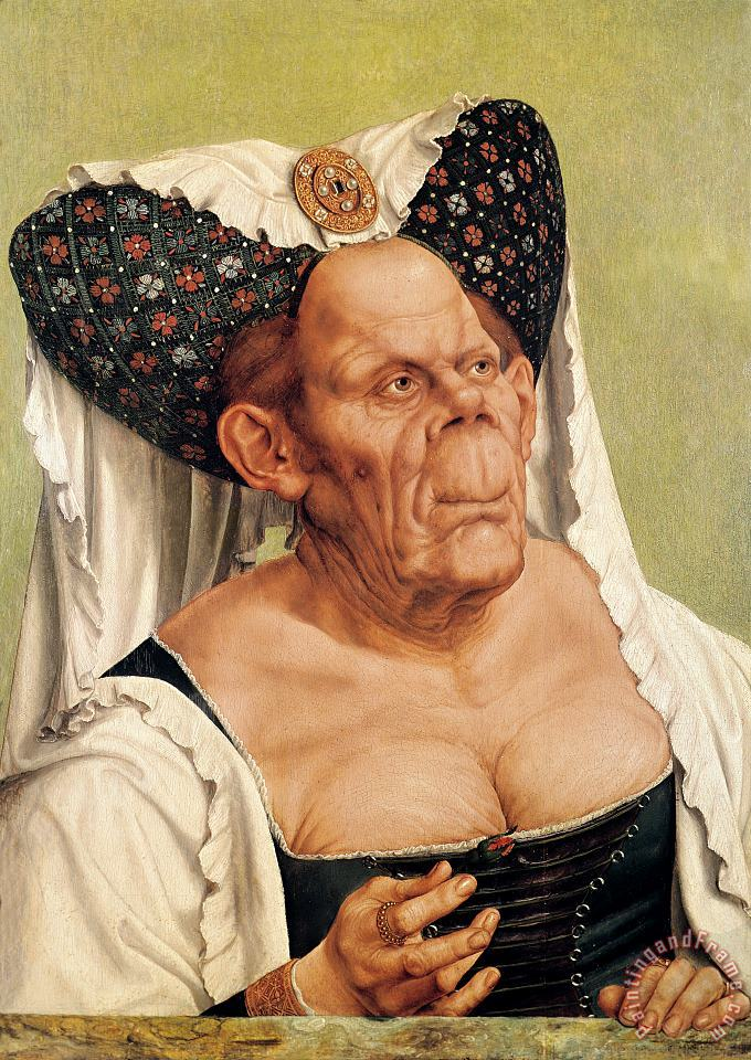 A Grotesque Old Woman painting - Quentin Massys A Grotesque Old Woman Art Print