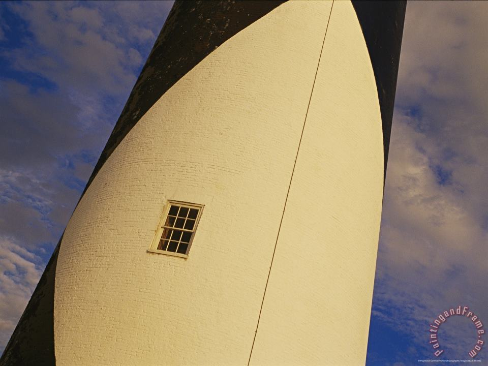 Raymond Gehman Close View And Detail of a Window on The Cape Lookout Lighthouse Art Painting