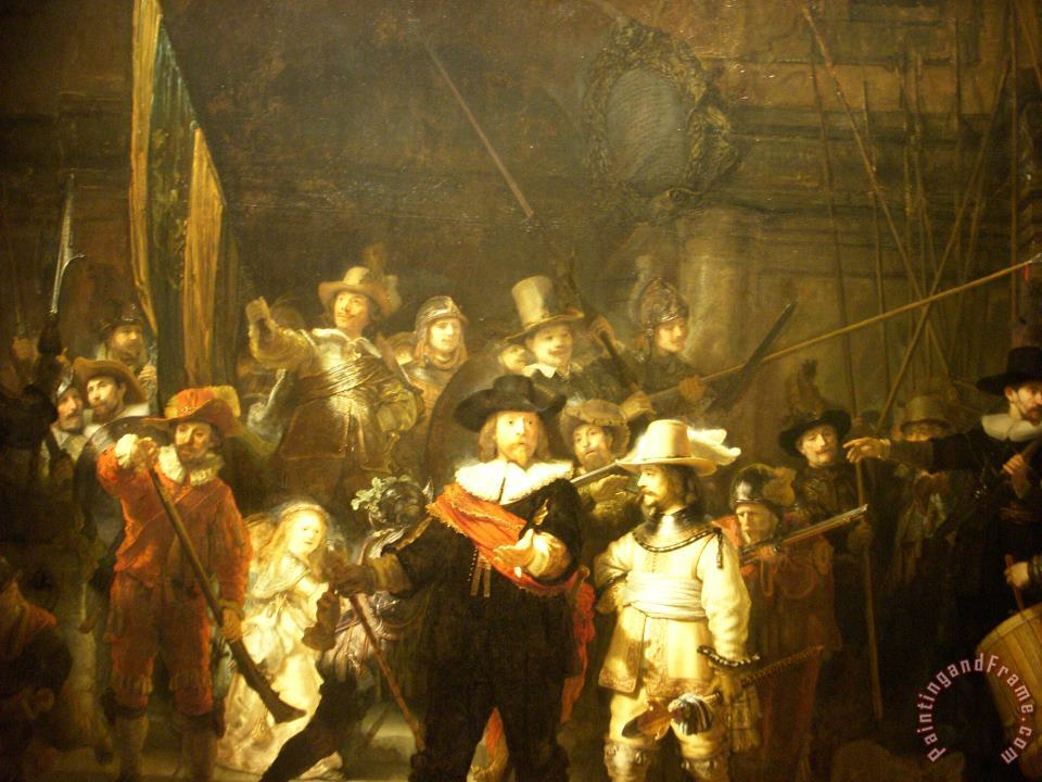 The Night Watch painting - Rembrandt The Night Watch Art Print