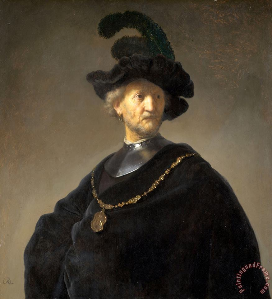 Old Man with a Gold Chain painting - Rembrandt Harmensz van Rijn Old Man with a Gold Chain Art Print