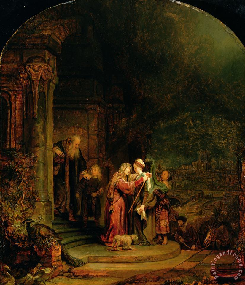 The Visitation painting - Rembrandt Harmensz van Rijn The Visitation Art Print