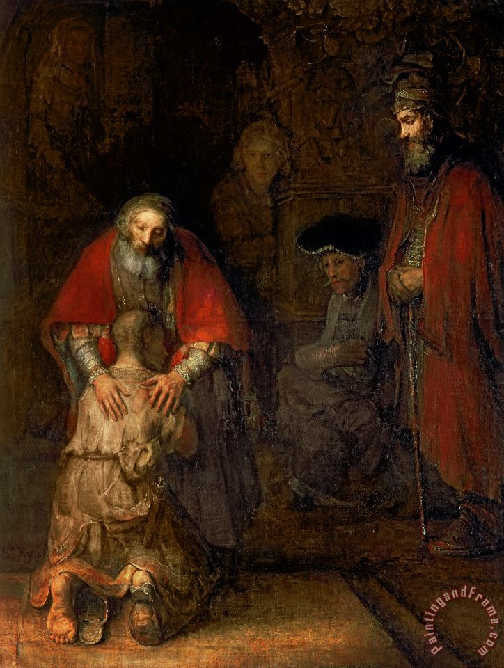 Return of the Prodigal Son painting - Rembrandt Harmenszoon van Rijn Return of the Prodigal Son Art Print