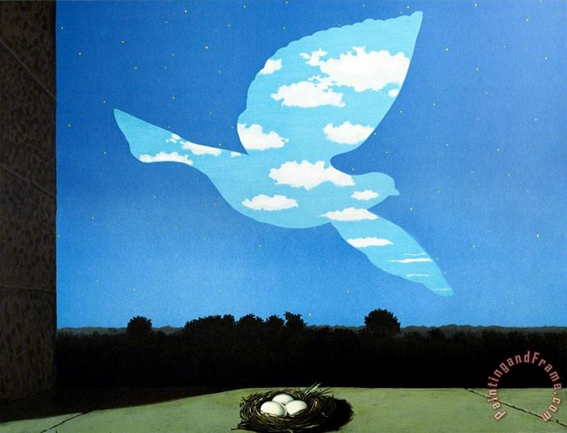 Le Retour (the Return), 2004 painting - rene magritte Le Retour (the Return), 2004 Art Print