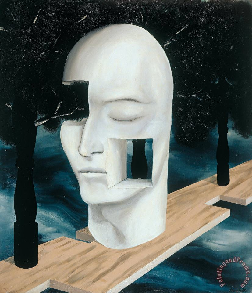 rene magritte The Face of Genius, 1926 Art Print