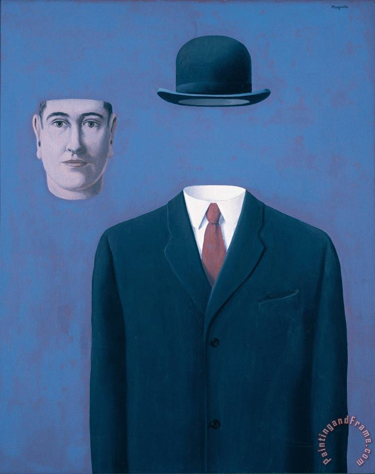 rene magritte The Pilgrim 1966 Art Print