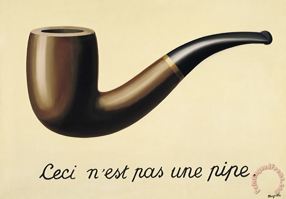 rene magritte The Treachery of Images This Is Not a Pipe 1948 Art Print