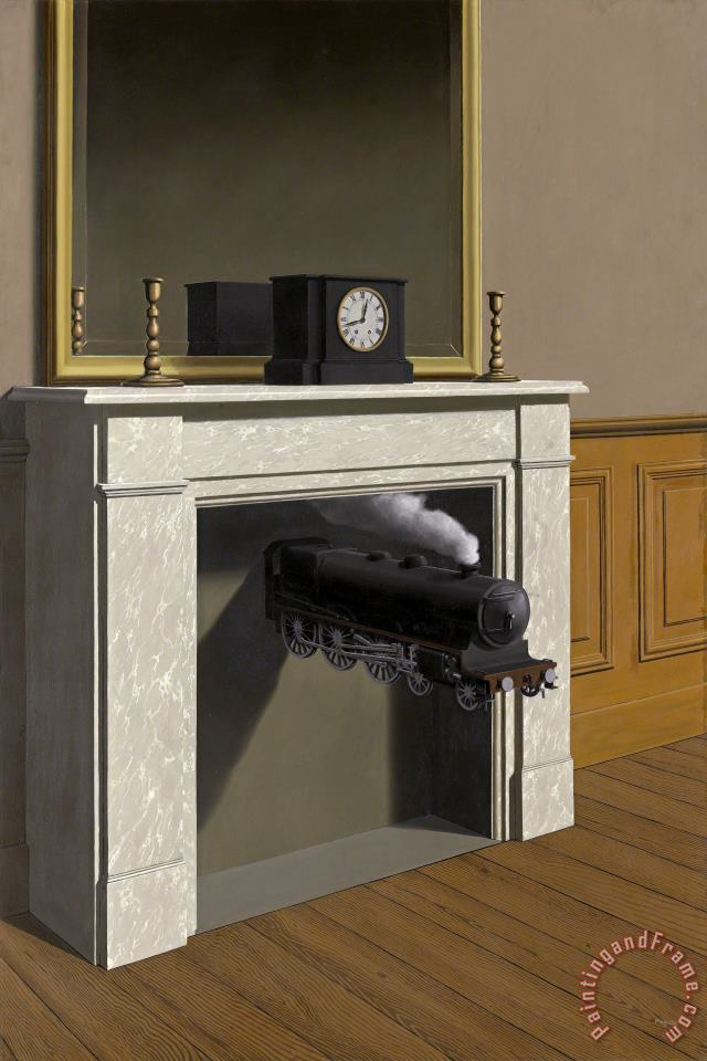 rene magritte Time Transfixed 1938 Art Painting