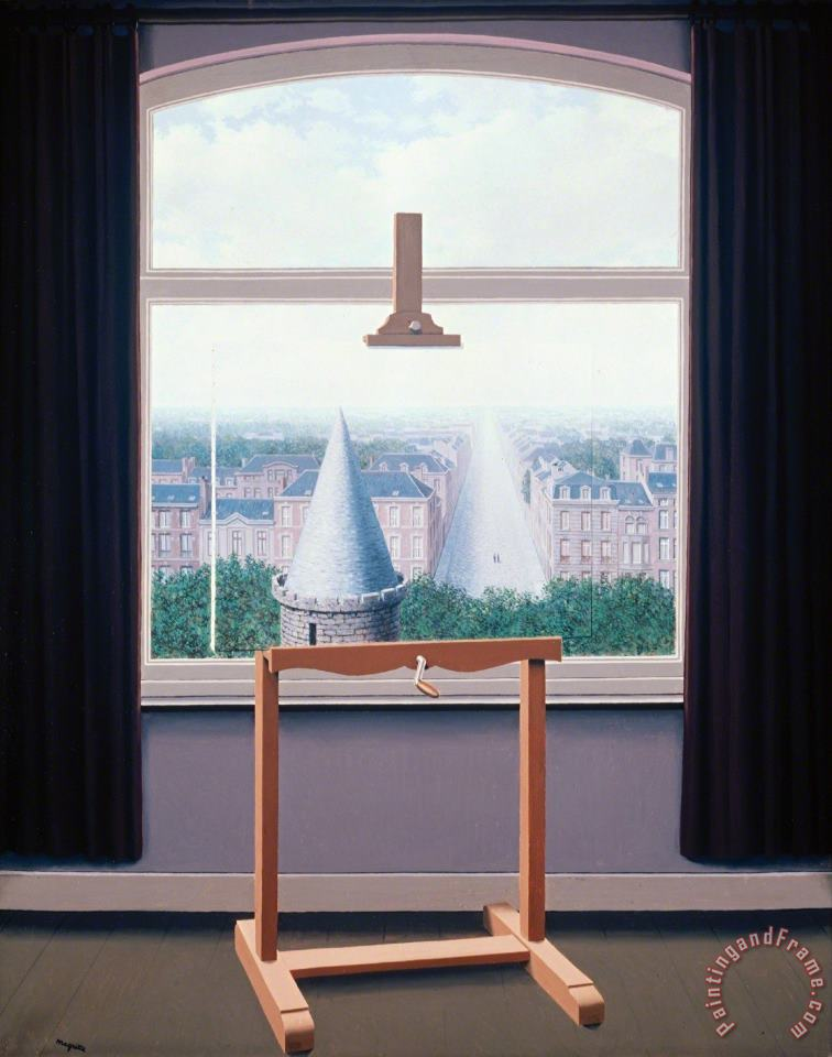 Rene Magritte Where Euclide Walked 1955 Painting - Where Euclide