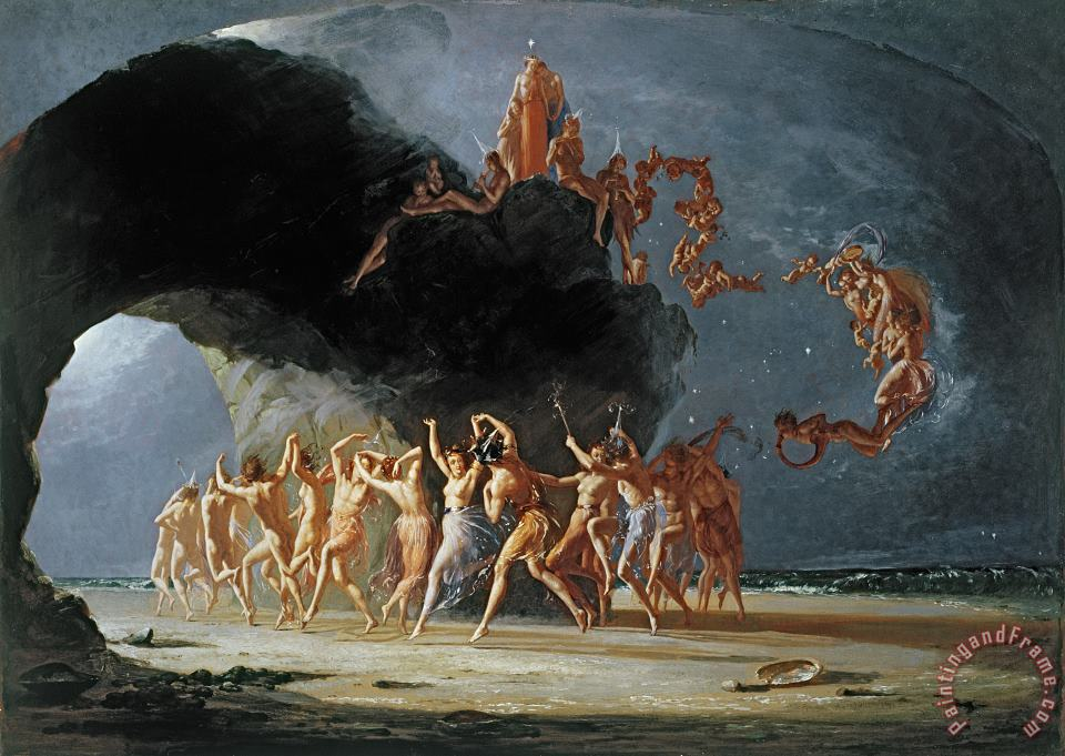 Come unto these Yellow Sands painting - Richard Dadd Come unto these Yellow Sands Art Print