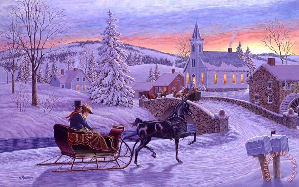 An Old Fashioned Christmas painting - Richard De Wolfe An Old Fashioned Christmas Art Print