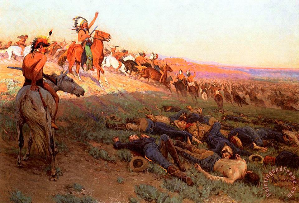 Custer's Last Stand painting - Richard Lorenz Custer's Last Stand Art Print