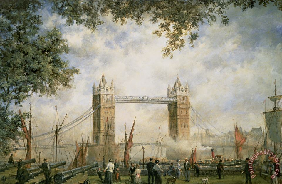 Richard Willis Tower Bridge - From the Tower of London Art Print