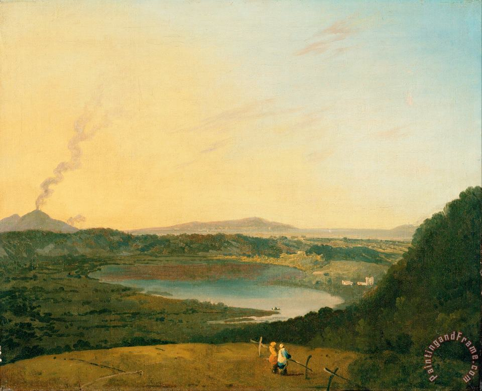 Lago D'agnano with Vesuvius in The Distance painting - Richard Wilson Lago D'agnano with Vesuvius in The Distance Art Print