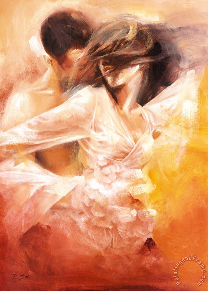 Emotional Dance painting - Robert Duval Emotional Dance Art Print