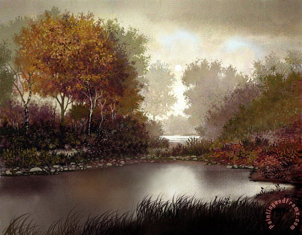 Fall Waters painting - Robert Foster Fall Waters Art Print