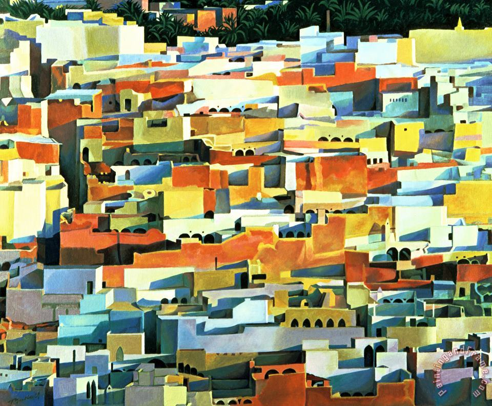North African Townscape painting - Robert Tyndall North African Townscape Art Print