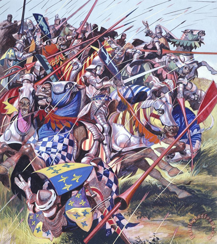 Agincourt The Impossible Victory 25 October 1415 painting - Ron Embleton  Agincourt The Impossible Victory 25 October 1415 Art Print
