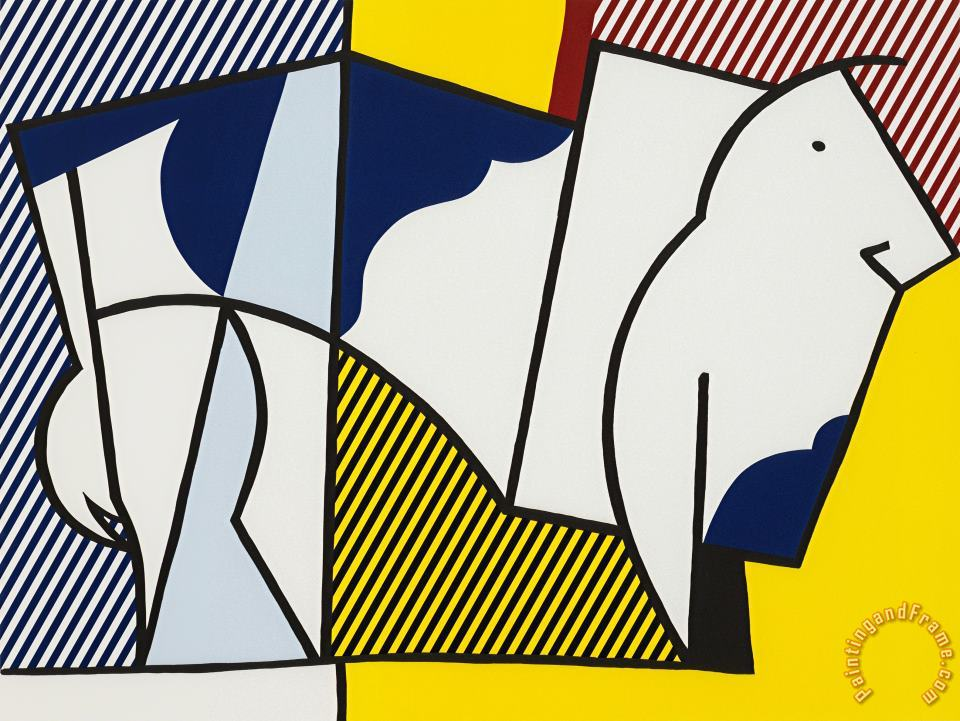 Bull #3,from Bull Profile Series, 1973 painting - Roy Lichtenstein Bull #3,from Bull Profile Series, 1973 Art Print