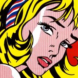 Girl with Hair Ribbon C 1965 by Roy Lichtenstein