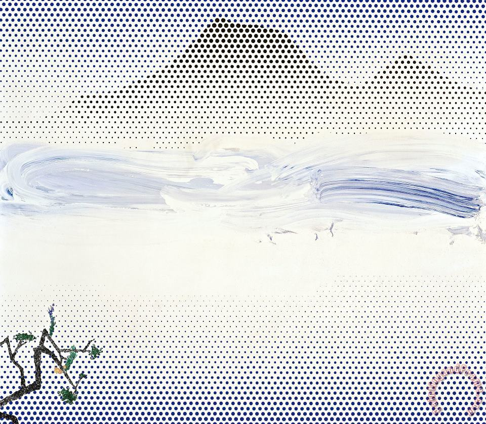 Landscape in Fog 1996 painting - Roy Lichtenstein Landscape in Fog 1996 Art Print