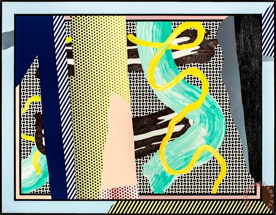 Reflections on Brushstrokes (from The Reflections Series), 1990 painting - Roy Lichtenstein Reflections on Brushstrokes (from The Reflections Series), 1990 Art Print